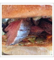 Seared Steak Sandwich at Happy Gillis Cafe and Hangout