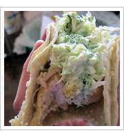 Baja Sur Shark Tacos at La Santisima Gourmet Taco Shop