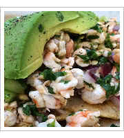 Shrimp Ceviche at La Tostaderia