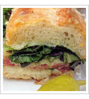 Smoked Duck Breast Sandwich at Sunflower Caffe