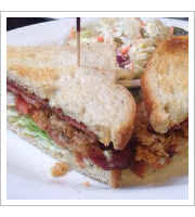 Soft Shell Crab BLT at Bubbas Diner