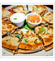 Tandoori Chicken Quesadillas at Red Lion Pub