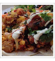 Vegan Tofu Rancheros at Pingala Cafe and Eatery