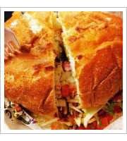 Torta Chilorio at Taco Bus