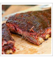 Trimmed Pork Ribs at Smokin Guns BBQ and Catering