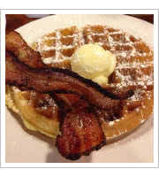 Waffles and Bacon at Matts Big Breakfast
