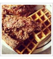 Waffles and Deep Fried Chicken at Mamas Food Shop