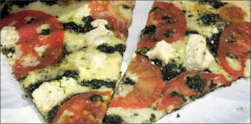 Goat Cheese and Pesto Pizza