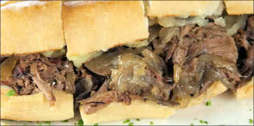Prime Rib Cheese Steak Sandwich