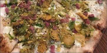 Pistachio and Brussel Sprouts Pizza