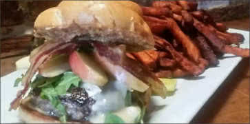 Apple Bacon and Brie Burger