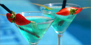 Blue Fancy Cocktails