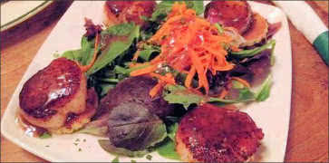 Blackened Scallop Appetizer