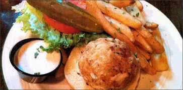 Irish Crab Cake Sandwich