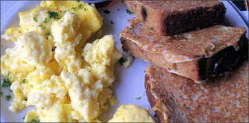 Gaelic Toast with Scrambled Eggs