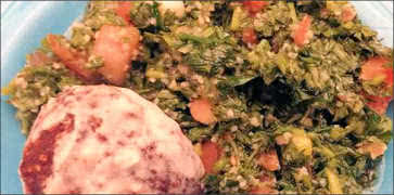 Taboule Salad and Kibbe