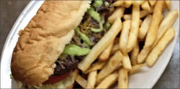 Wasabi Steak and Cheese Hoagie