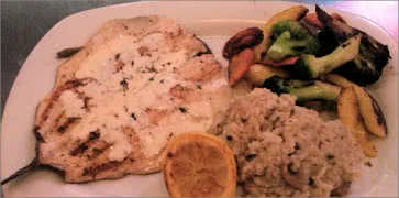 Grilled Trout with Risotto