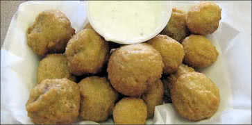 Breaded Mushrooms with Dip