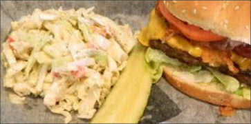 Cheeseburger with Coleslaw