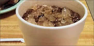 Cold Cola with Crushed Ice