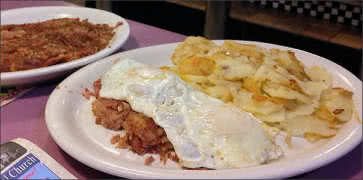 Corned Beef Hash with Eggs and Home Fries