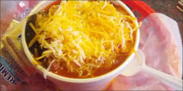 Bean Chili with Cheddar Cheese