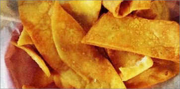 Homemade Flour and Corn Chips