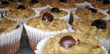 German Chocolate Cup Cakes