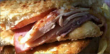 Inside Out Hot Brown Sandwich