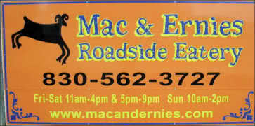 Mac and Ernies Roadside Eatery in Tarpley