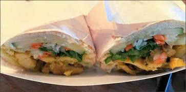 Yellow Curry Chicken Banh Mi