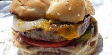 Char Cheddar Burger