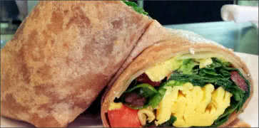 Skinny Wrap with Eggs
