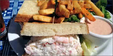 Crab and Shrimp Sandwich