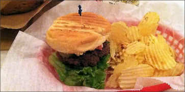 Pimento Cheeseburger with Crinkle Chips