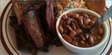 Lamb Ribs with side of Baked Beans
