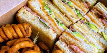 Club Sandwich with Curly Fries