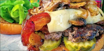 Bacon Mushroom Swiss Burger