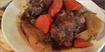 Ox Tail with Potatoes and Carrots
