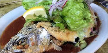Whole Fried Bronzino