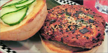 Red Chili Salmon Burger