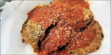 Breaded Eggplant with Red Sauce
