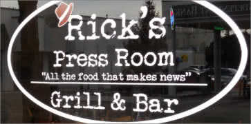 Ricks Press Room Grill and Bar in Meridian