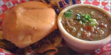 BBQ Gumbo with Brisket Sandwich