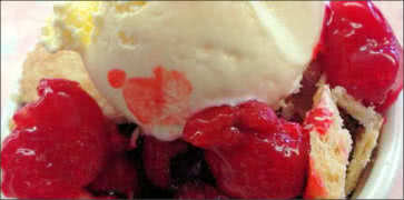 Fresh Raspberry Cobbler Dessert