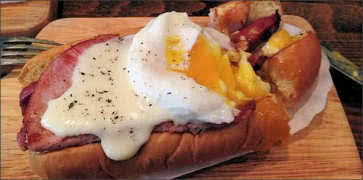 Croque Madame Hot Dog
