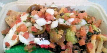 The Mantia - Nachos mixed with Fries