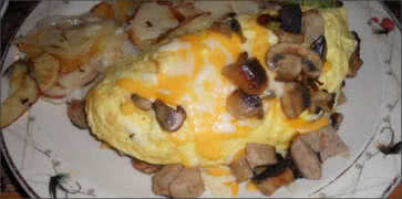 Cheese and Mushroom Omelette