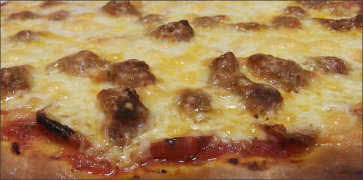 Shortys Big Cheese Italian Sausage and Pepperoni Pizza